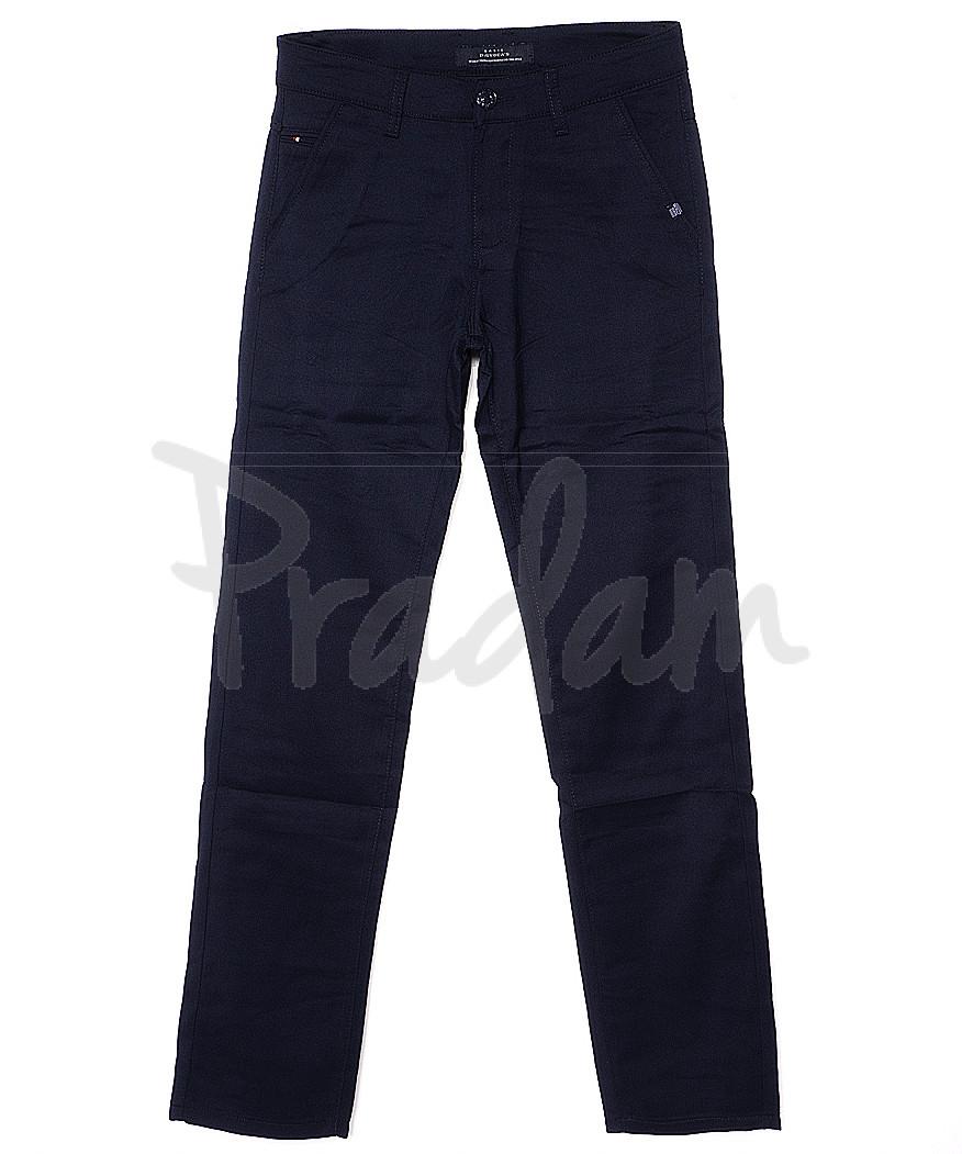 0372-3 Disvocas брюки мужские темно-синие с косым карманом весенние стрейчевые (29-38, 8 ед.)