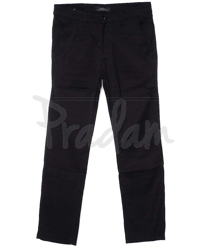 0369-1 Disvocas брюки мужские черные батальные с косым карманом весенние стрейчевые (32-38, 8 ед.)