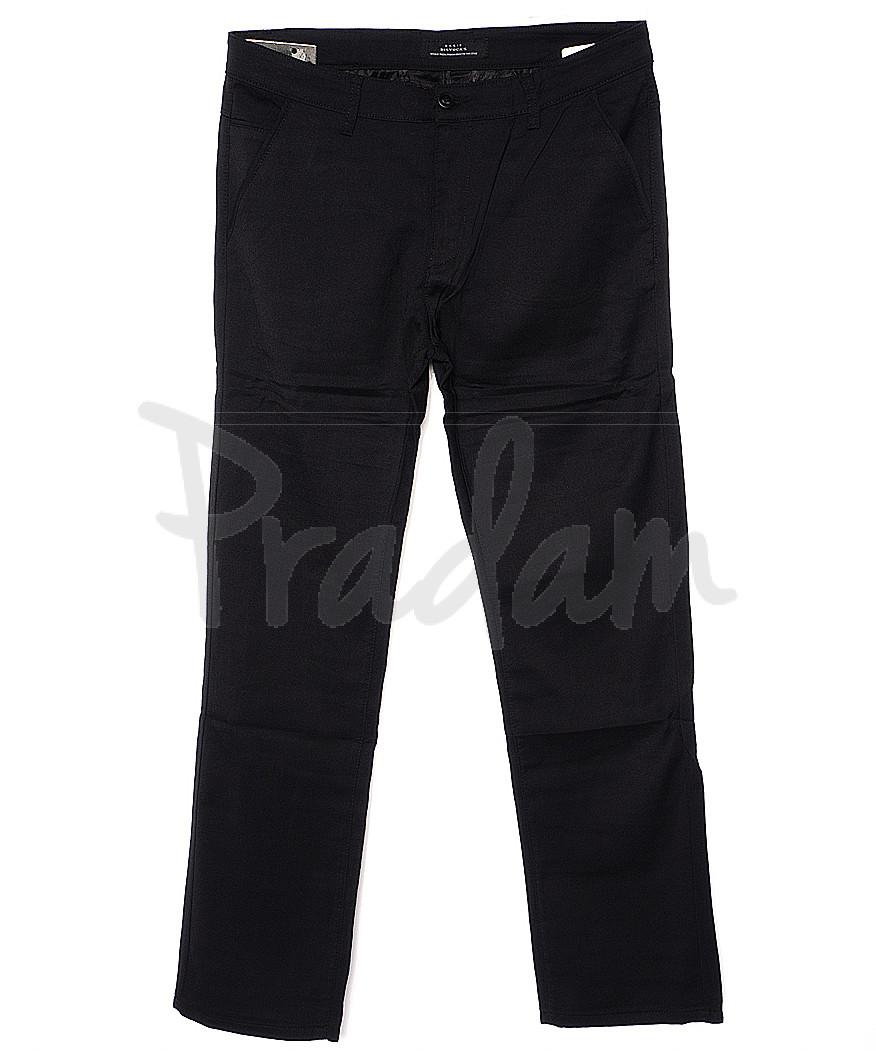 0370-1 Disvocas брюки мужские черные батальные с косым карманом весенние стрейчевые (32-42, 8 ед.)