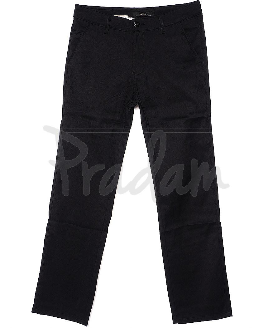 0368-1 Disvocas брюки мужские черные батальные с косым карманом весенние стрейчевые (32-42, 8 ед.)
