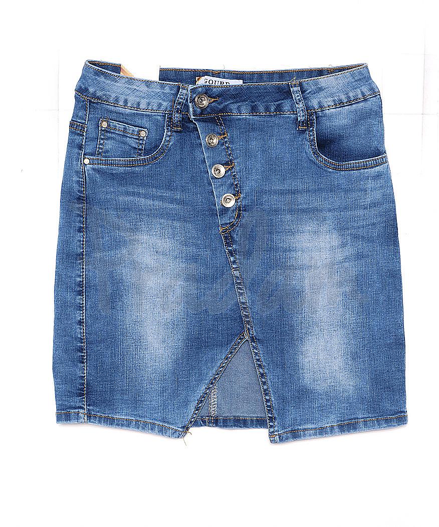 1260 Gourd юбка джинсовая на пуговицах весенняя стрейчевая (26-31, 6 ед.)