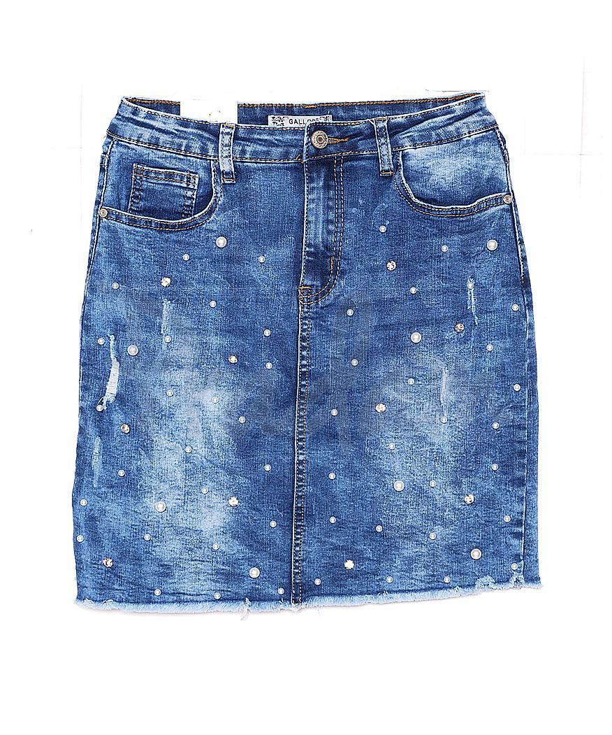 0832 Gallop юбка джинсовая с жемчугом весенняя стрейчевая (XS-XL, 6 ед.)