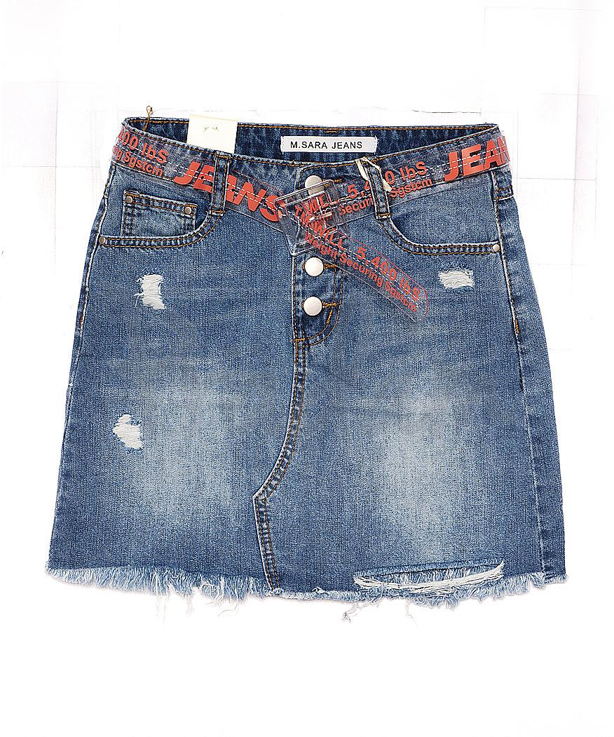 1011 M.Sara юбка джинсовая на пуговицах весенняя стрейчевая (25-30, 6 ед.)