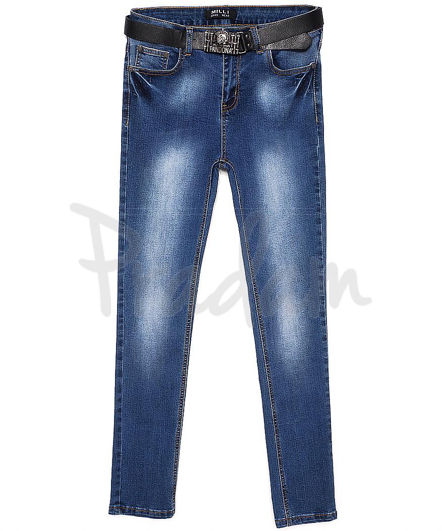 0015 Milli джинсы женские батальные зауженные с теркой весенние стрейчевые (29-34, 6 ед.)