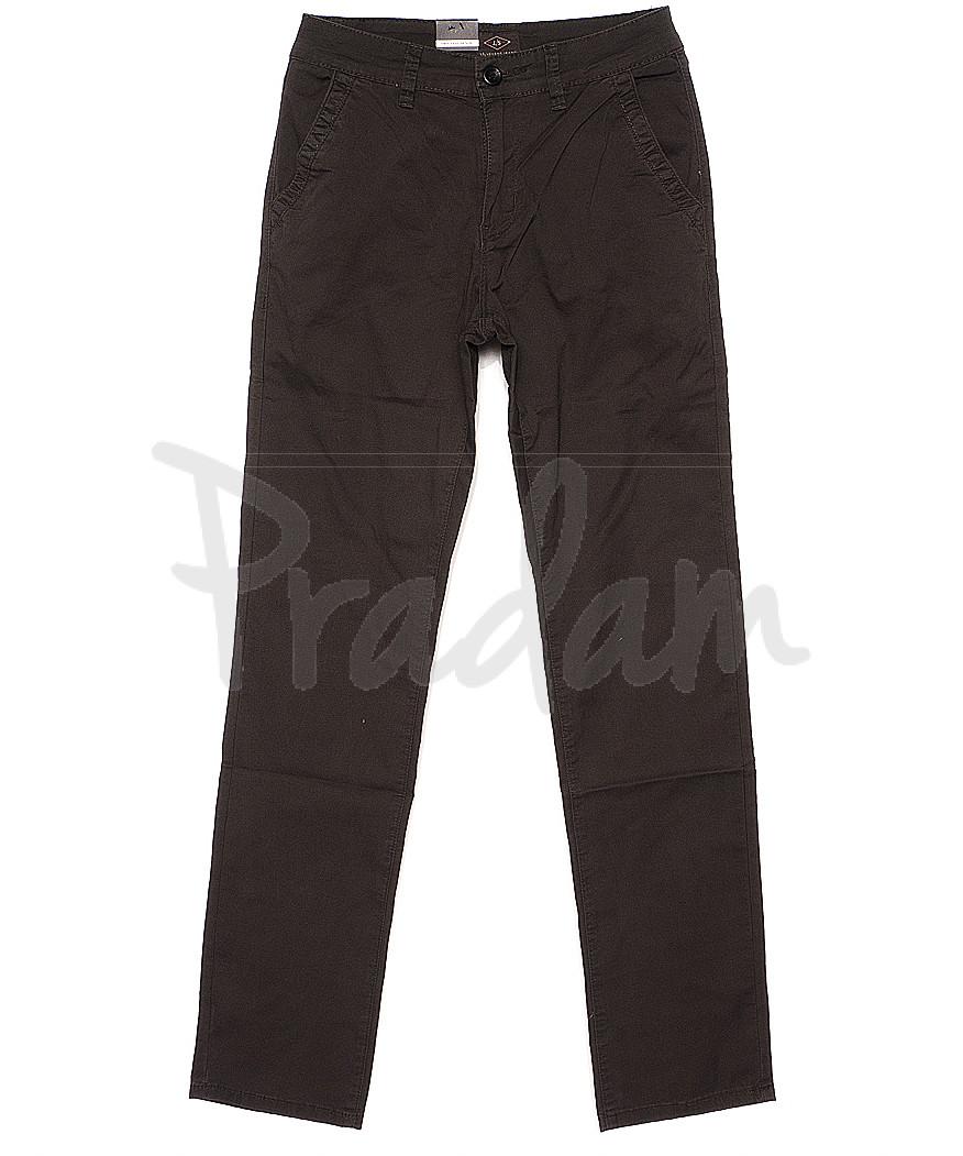 140063 LS брюки мужские коричневые с косым карманом весенние стрейчевые (29-38, 8 ед.)