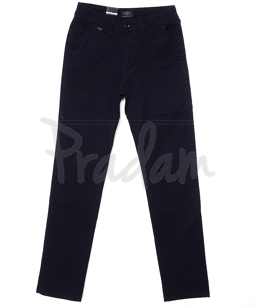 140059 LS брюки мужские темно-синие с косым карманом весенние стрейчевые (29-38, 8 ед.)