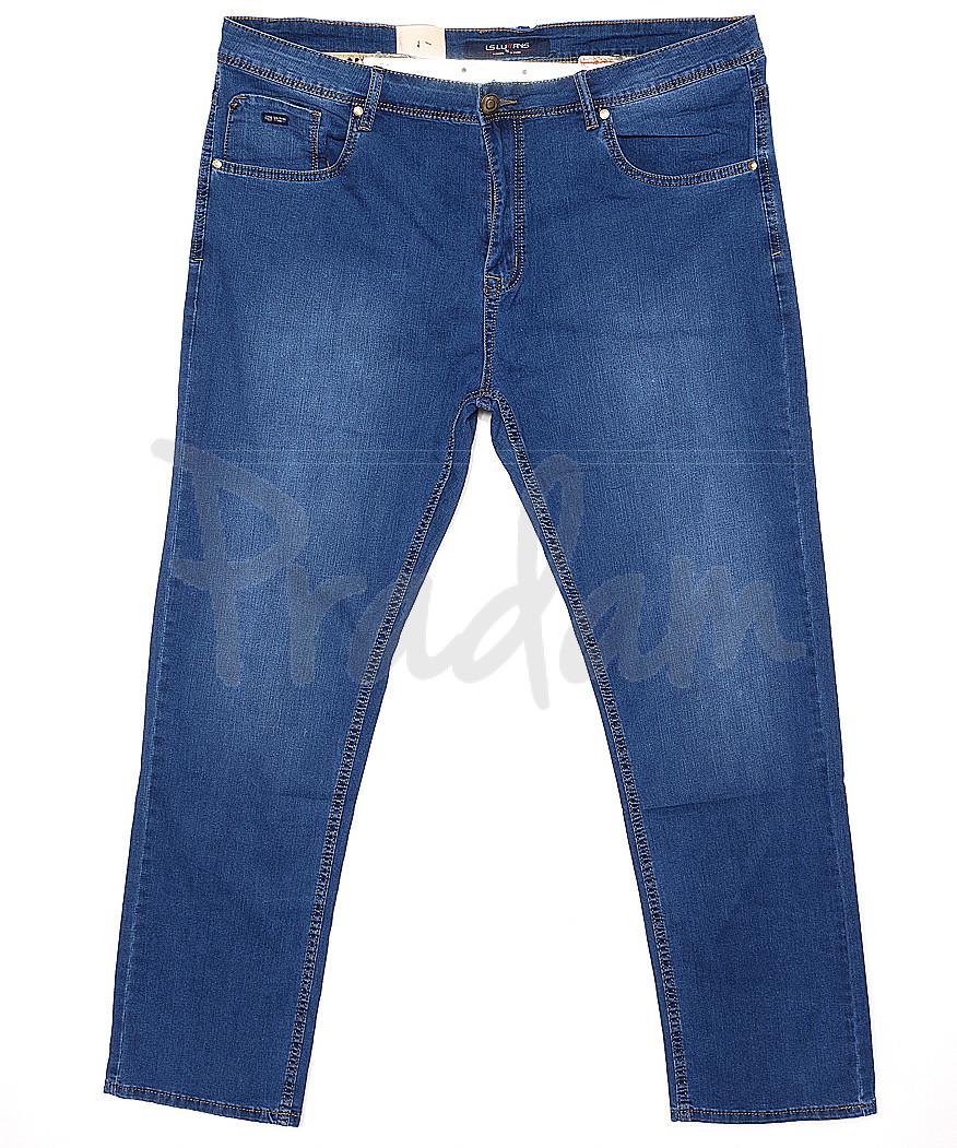 120141-D LS джинсы мужские батальные классические весенние стрейчевые (34-42, 8 ед.)
