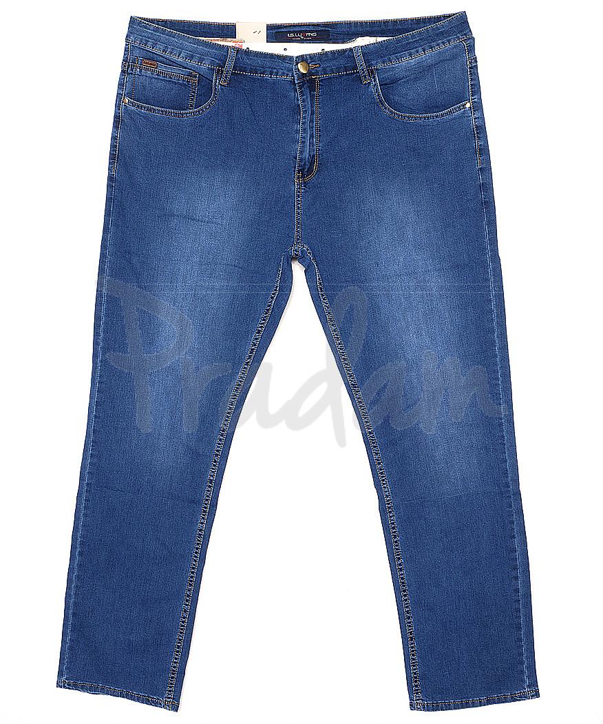 120144-D LS джинсы мужские батальные классические весенние стрейчевые (34-44, 8 ед.)