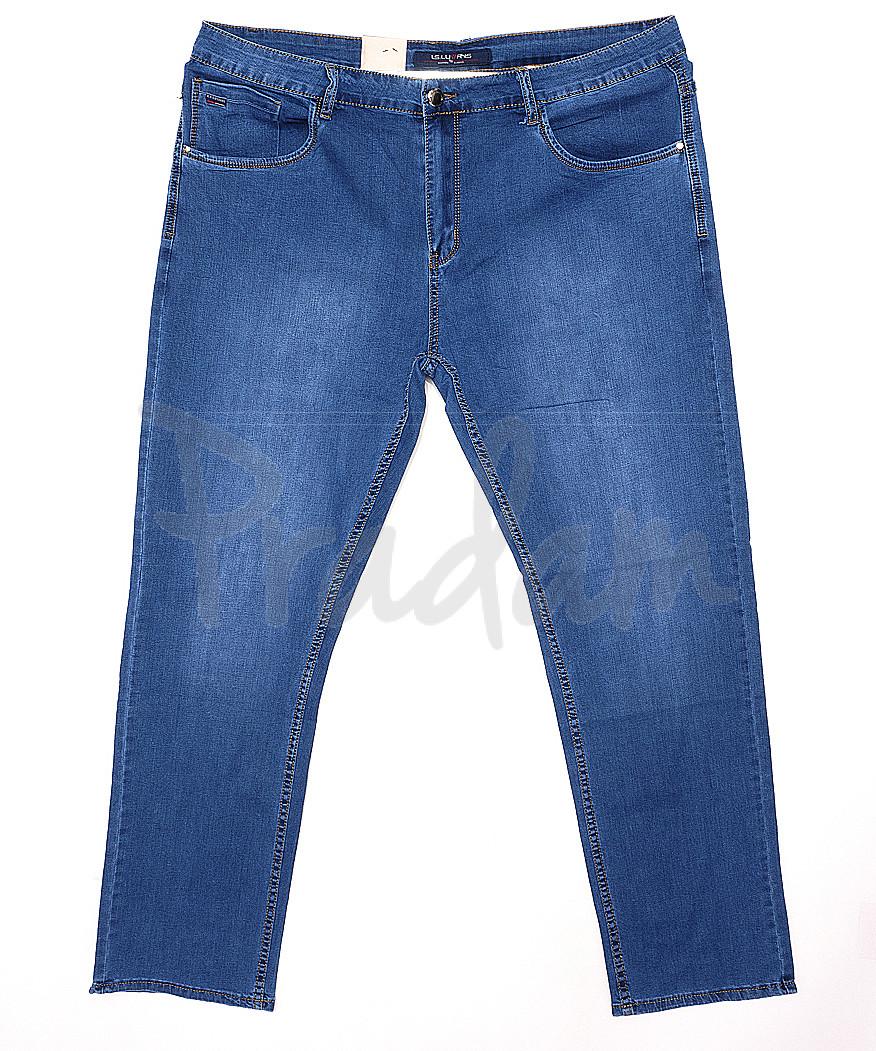 120143-D LS джинсы мужские батальные классические весенние стрейчевые (34-42, 8 ед.)