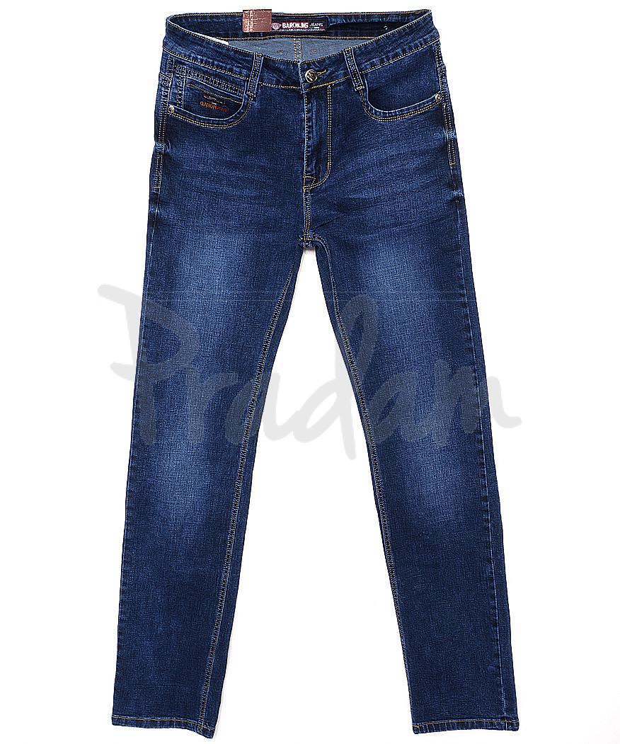 0310 Baron джинсы мужские батальные классические весенние стрейчевые (32-38, 8 ед.)