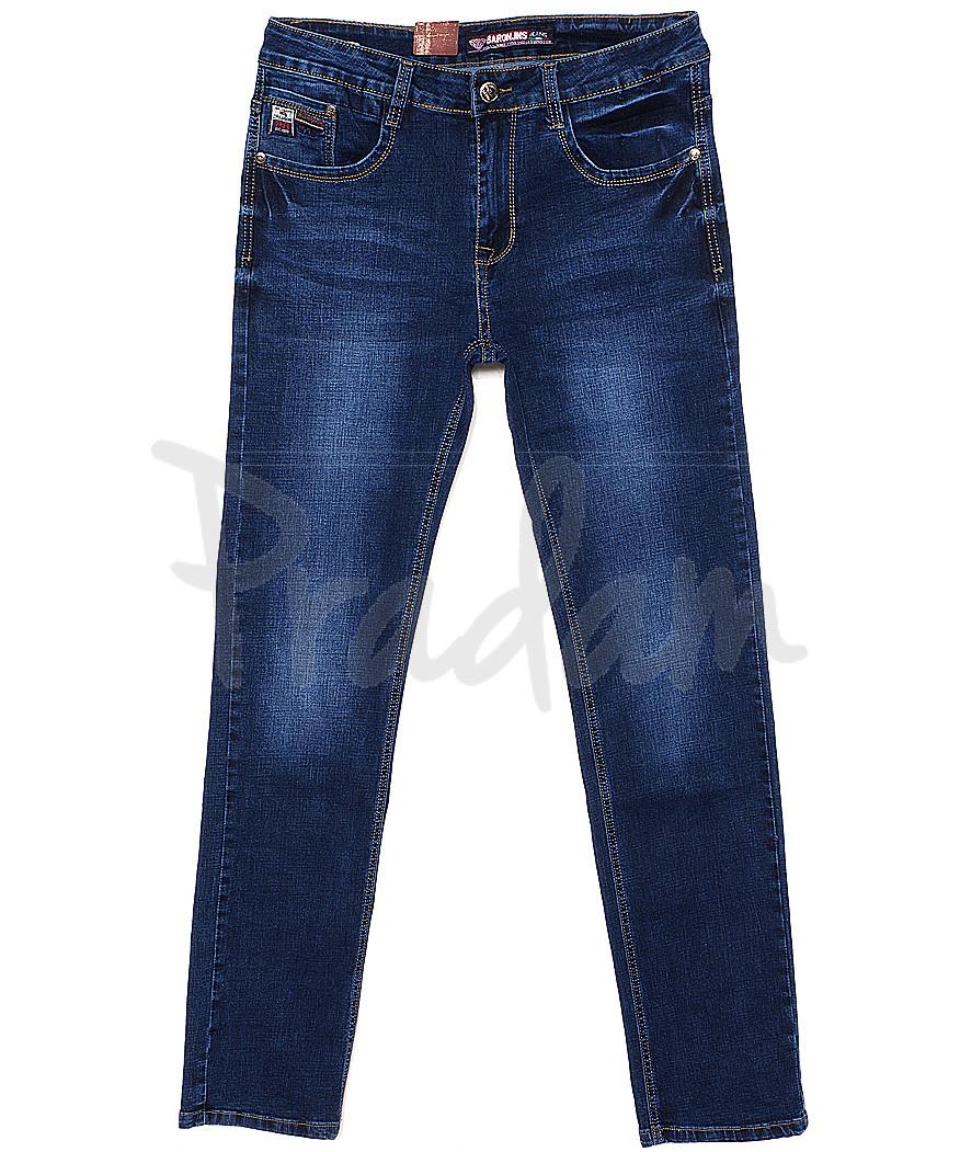 0305 Baron джинсы мужские батальные классические весенние стрейчевые (32-38, 8 ед.)
