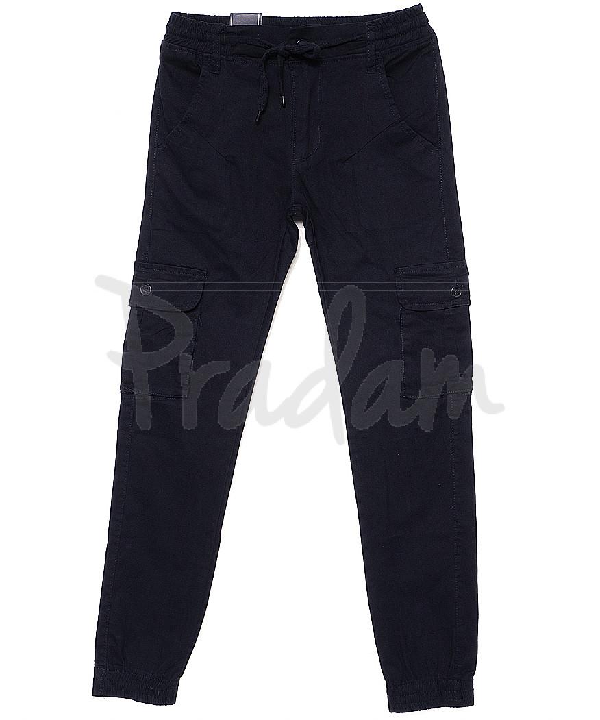 6812 Baron брюки мужские молодежные темно-синие на манжете весенние стрейчевые (27-34, 8 ед.)
