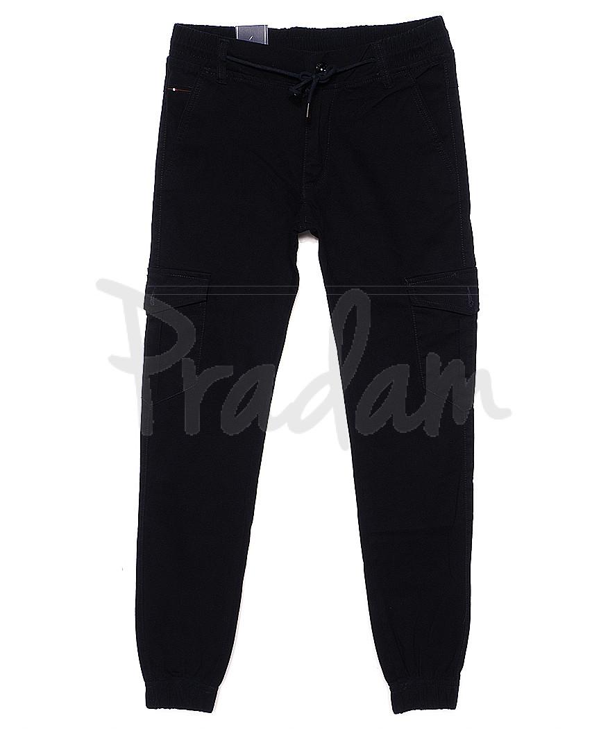 6006-2 Baron брюки мужские молодежные темно-синие на манжете весенние стрейчевые (27-34, 8 ед.)