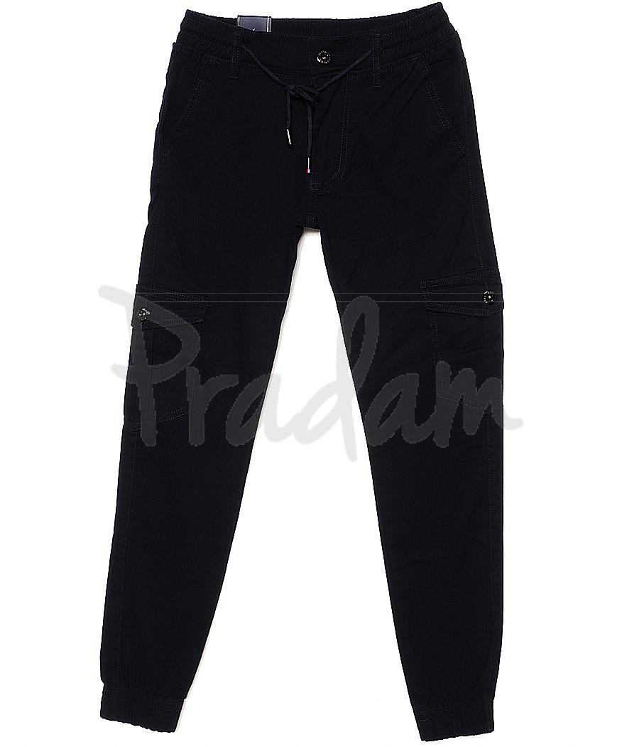 6009-2 Baron брюки мужские молодежные темно-синие на манжете весенние стрейчевые (27-34, 8 ед.)