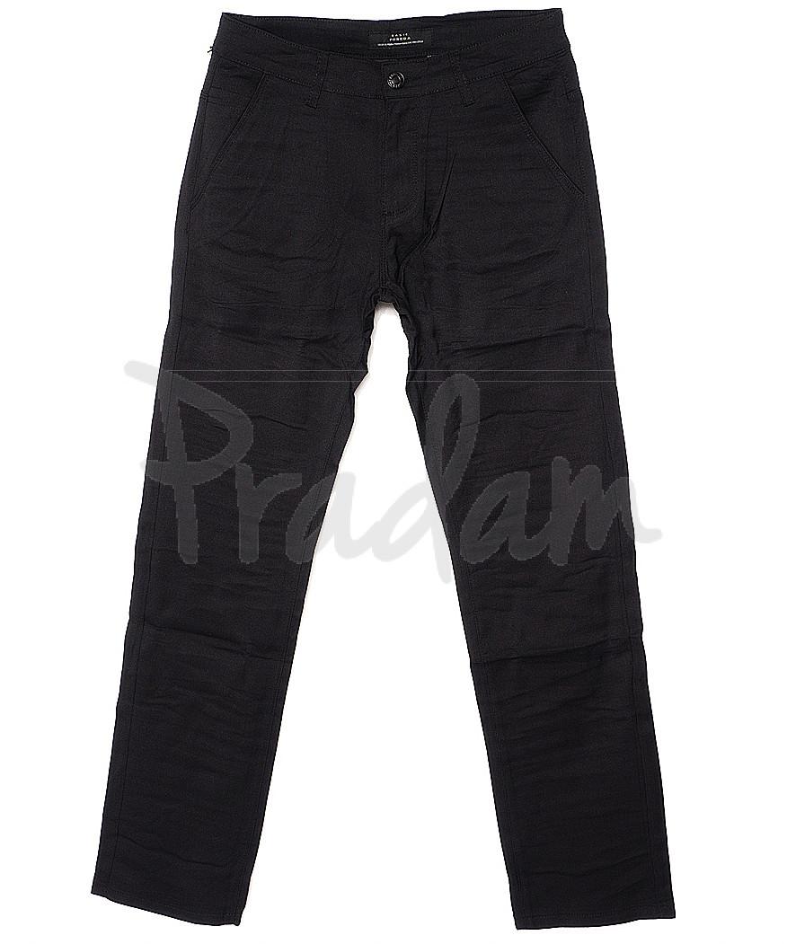 0366-1 Pobeda брюки мужские черные весенние стрейчевые (29-38, 8 ед.)