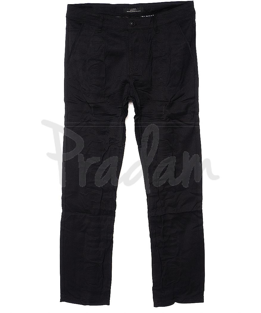 0367-1 Pobeda брюки мужские батальные черные весенние стрейчевые (34-44, 8 ед.)