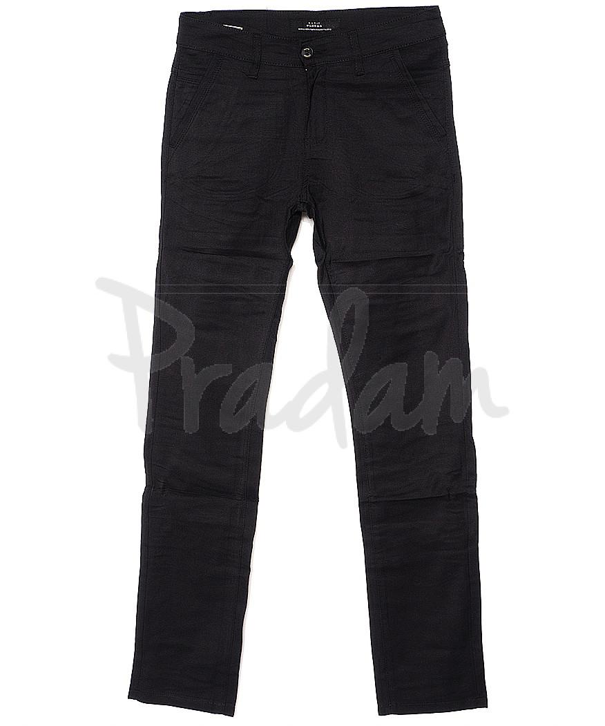 0365-1 Pobeda брюки мужские молодежные черные весенние стрейчевые (27-34, 8 ед.)