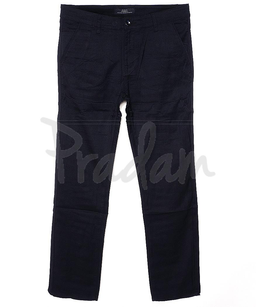 0367-2 Pobeda брюки мужские батальные темно-синие весенние стрейчевые (34-44, 8 ед.)
