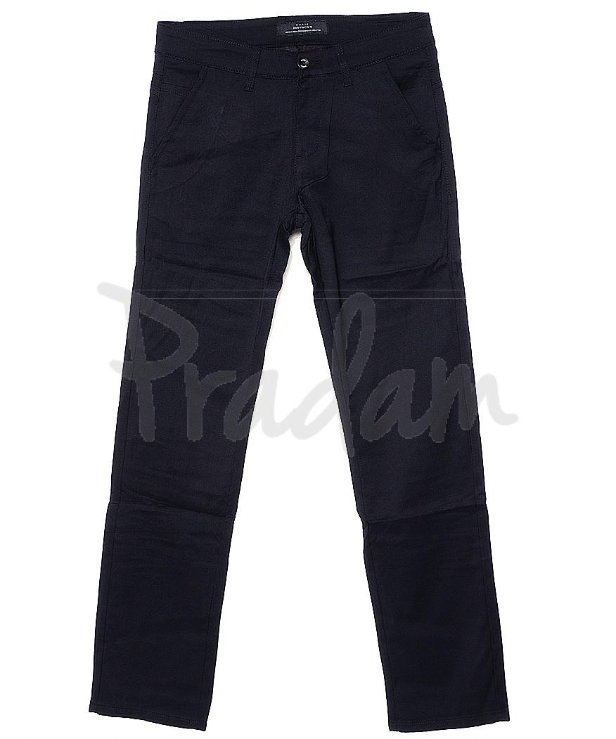 0371-2 Disvocas брюки мужские темно-синие весенние стрейчевые (30-38, 8 ед.)