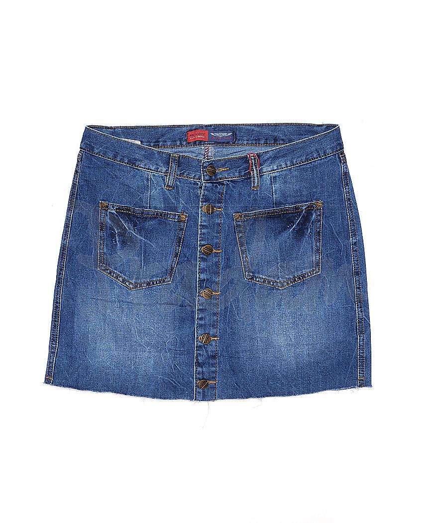 V 0026-12 Relucky юбка джинсовая весенняя котоновая (25-30, 6 ед.)