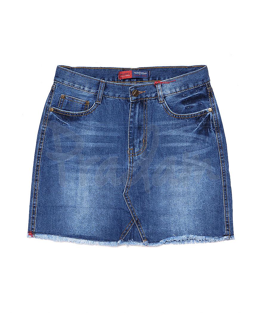 V 0025-12 Relucky юбка джинсовая весенняя котоновая (25-30, 6 ед.)