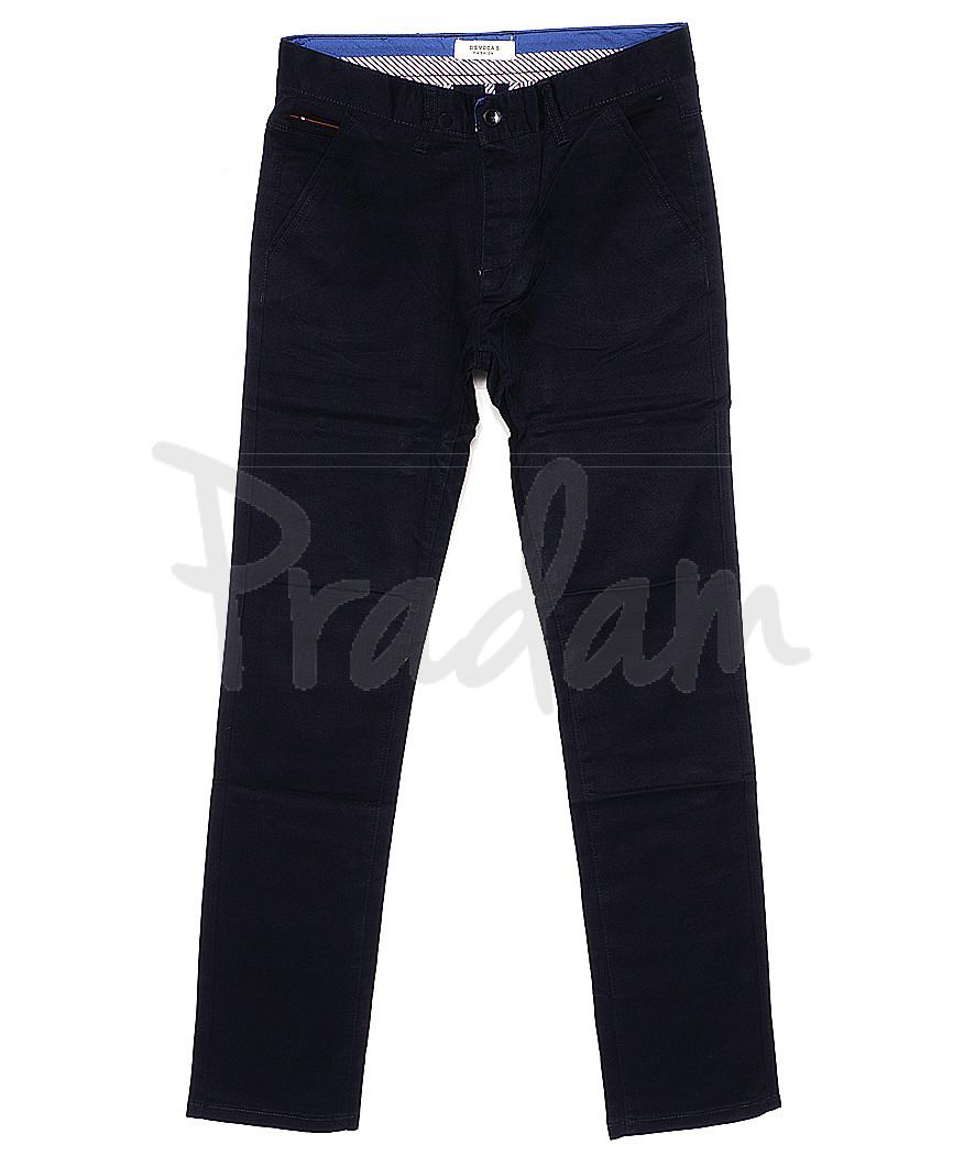 0668-29 Disvocas брюки мужские с косым карманом темно-синие весенние стрейчевые (29-38, 8 ед.)