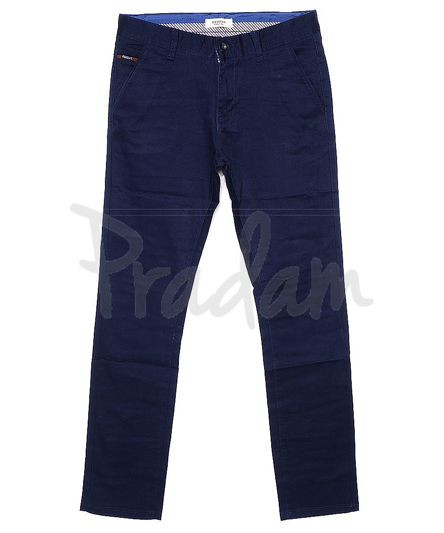 0671-1 Disvocas брюки мужские с косым карманом синие весенние стрейчевые (30-40, 8 ед.)