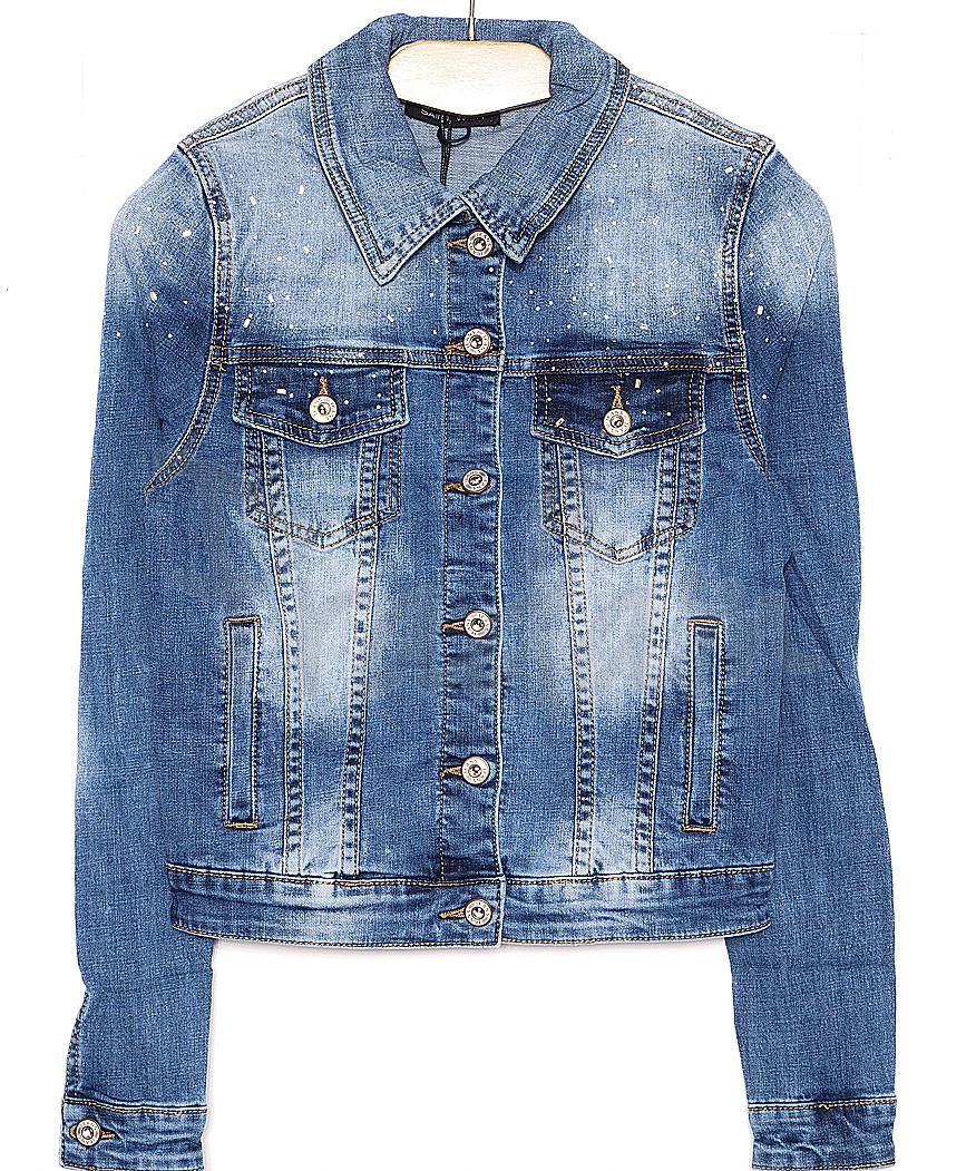 0112 (W112) Saint Wish куртка джинсовая женская весенняя стрейчевая (S-XL, 4 ед.)