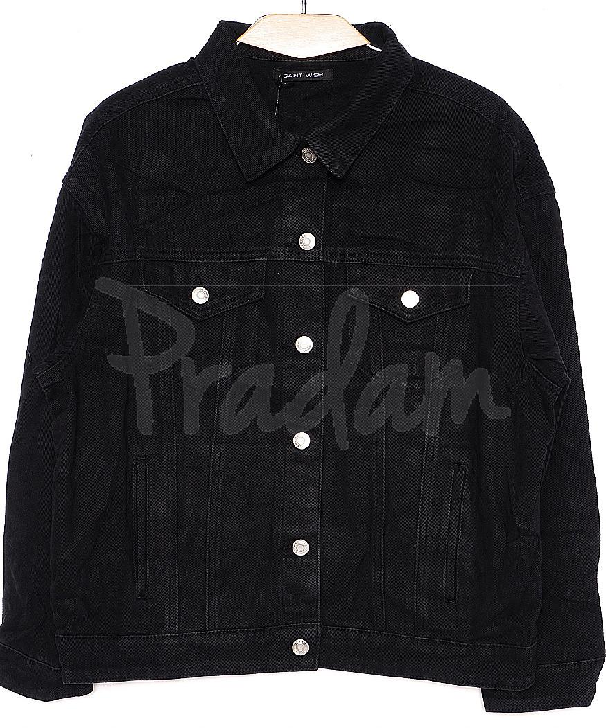 0136-1 (W136-1) Saint Wish куртка джинсовая женская черная весенняя котоновая (S-L, 3 ед.)
