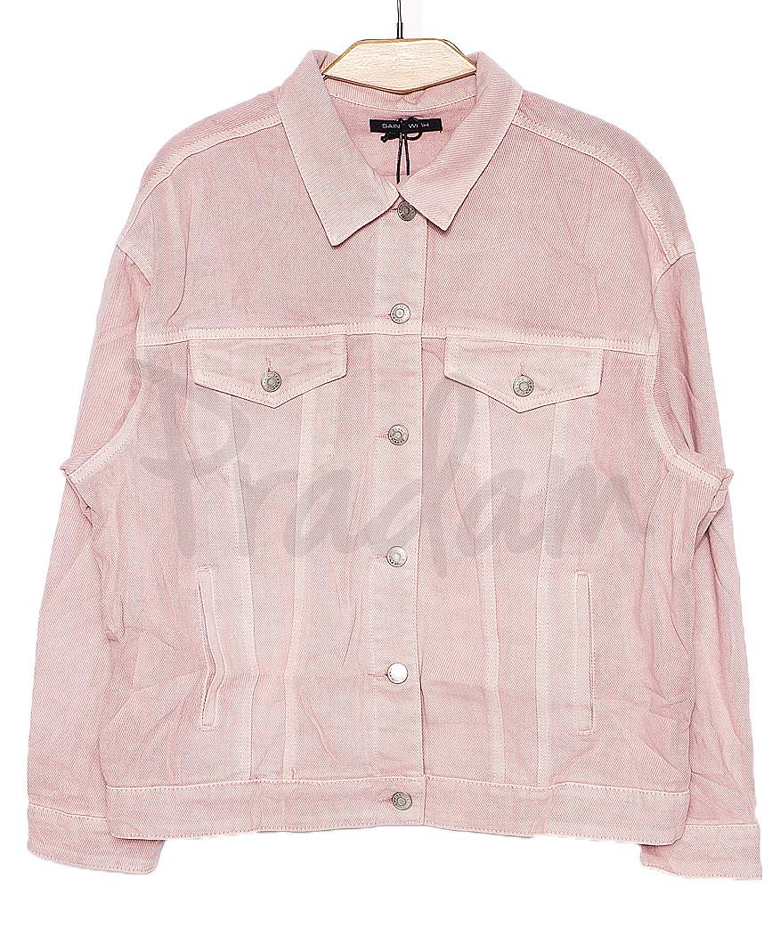 0136-3 (W136-3) Saint Wish куртка джинсовая женская розовая весенняя котоновая (S-L, 3 ед.)