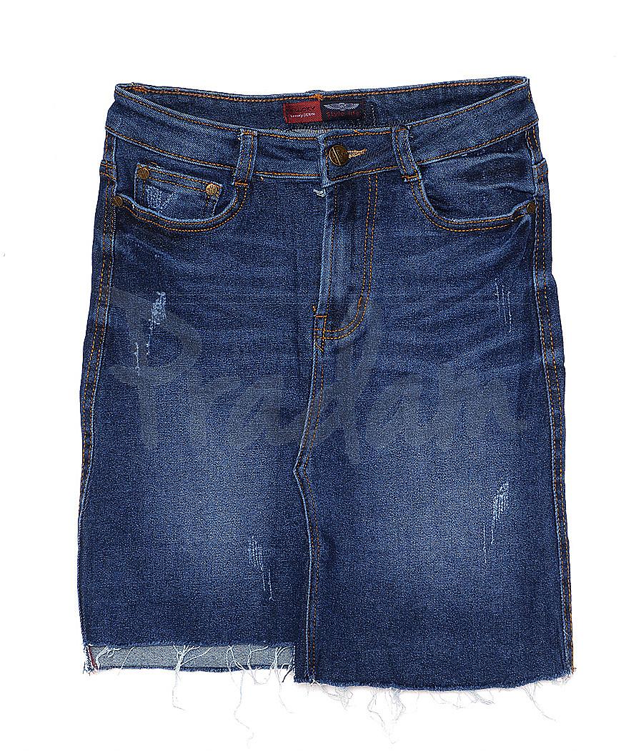 A 0401-4 Relucky юбка джинсовая с царапками весенняя стрейчевая (25-30, 6 ед.)