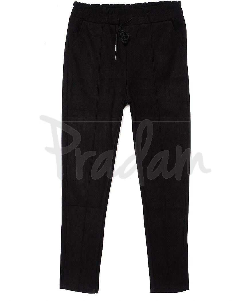 3012 XFashion брюки женские черные весенние стрейчевые (M-XL, 6 ед.)