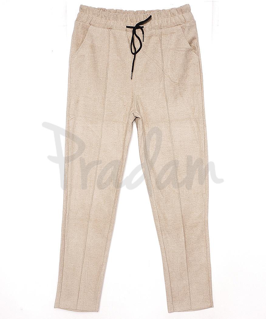 3013 XFashion брюки женские бежевые весенние стрейчевые (M-XL, 6 ед.)
