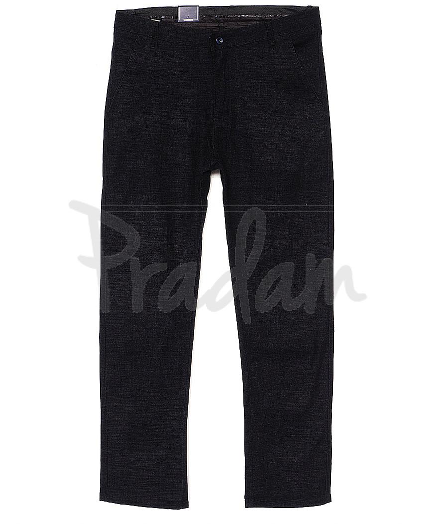 6016-1 Baron брюки мужские батальные черный меланж весенние стрейч-котон (32-38, 8 ед.)