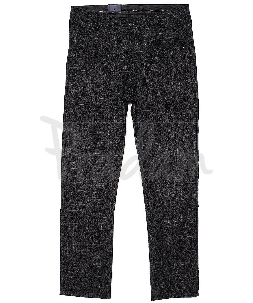 6013-1 Baron брюки мужские серые весенние стрейч-котон (29-38, 8 ед.)