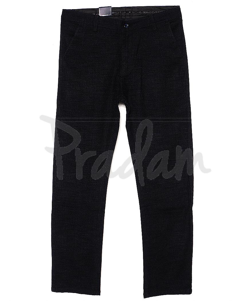 6017-1 Baron брюки мужские батальные черный меланж весенние стрейч-котон (32-38, 8 ед.)