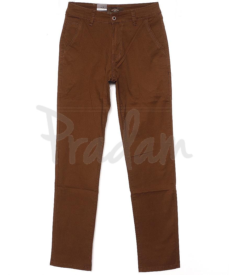 140065 LS брюки мужские коричневые весенние стрейчевые (29-38, 8 ед.)
