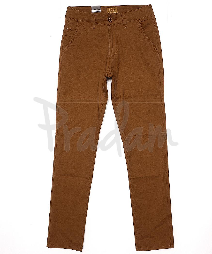 140067 LS брюки мужские коричневые весенние стрейчевые (29-38, 8 ед.)