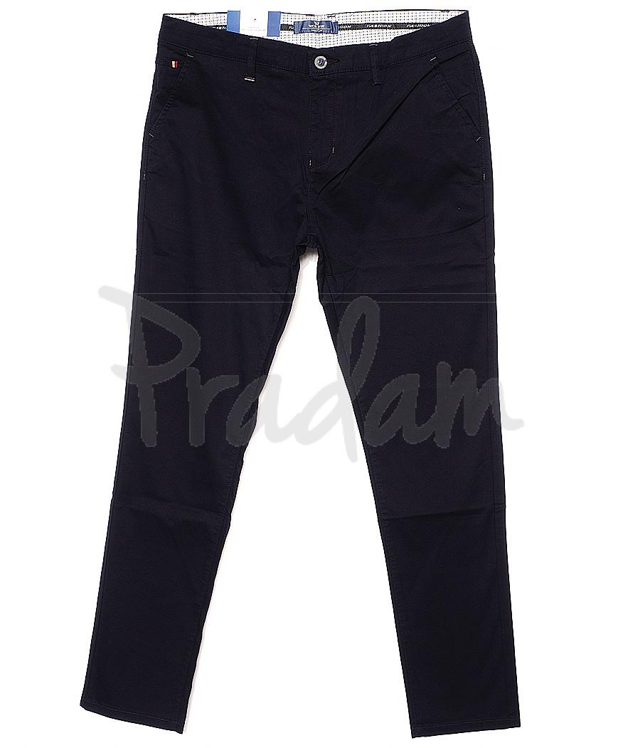 0007-3C (WI07-3C) Worth It брюки мужские зауженные темно-синие весенние стрейчевые (30-38, 10 ед.)