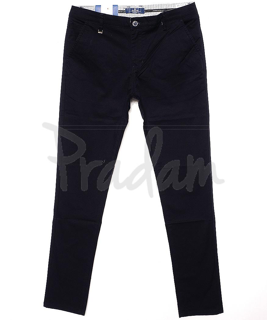 0007-4C (WI07-4C) Worth It брюки мужские зауженные темно-синие весенние стрейчевые (30-38, 10 ед.)