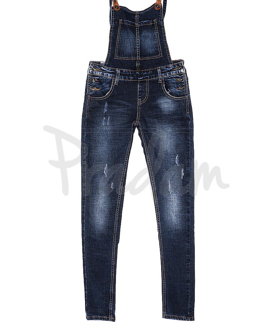 3091 M.Sara комбинезон джинсовый женский с царапками весенний стрейчевый (26-31, 6 ед.)