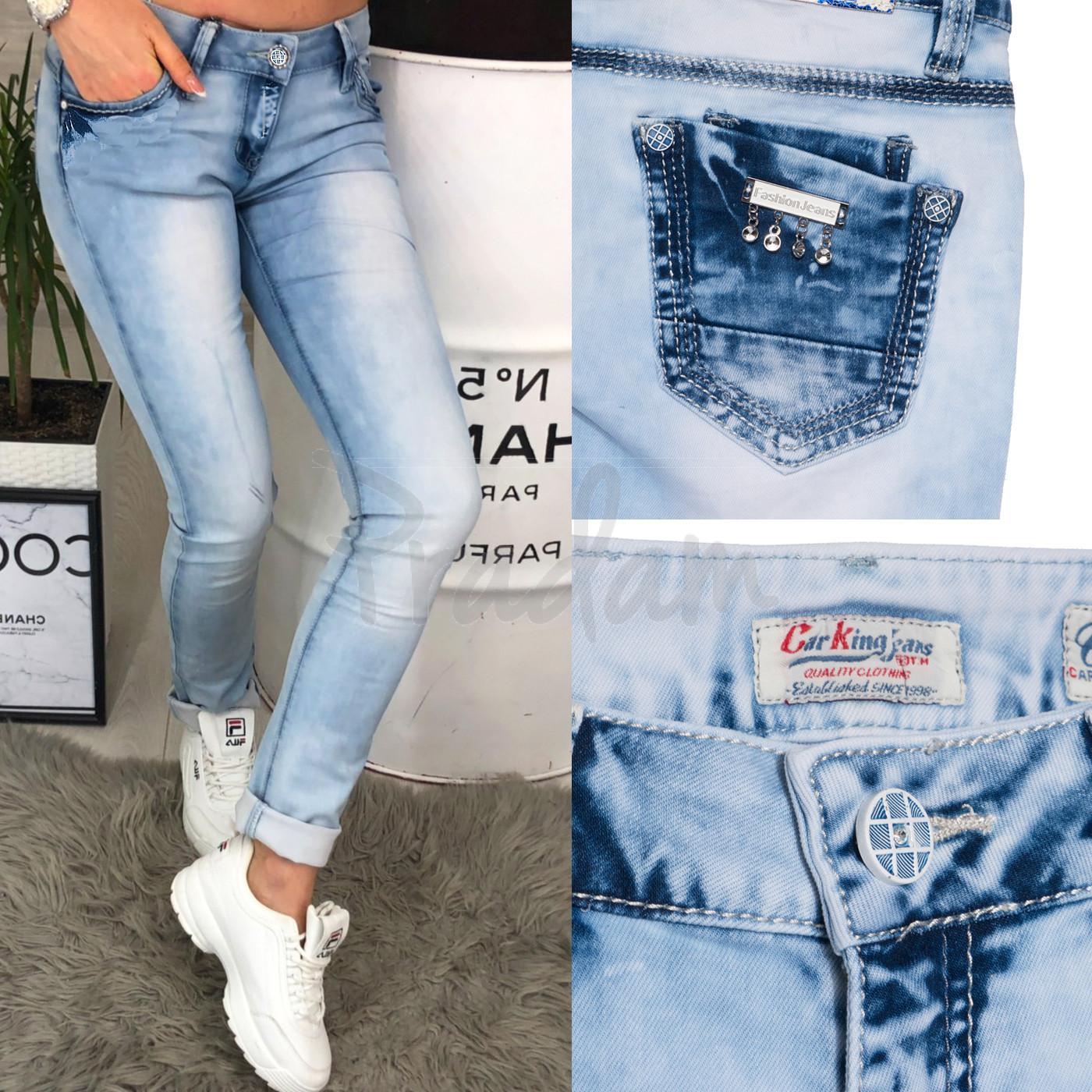 0000-00 Car King джинсы женские с варкой весенние стрейчевые (25-30, 6 ед.)