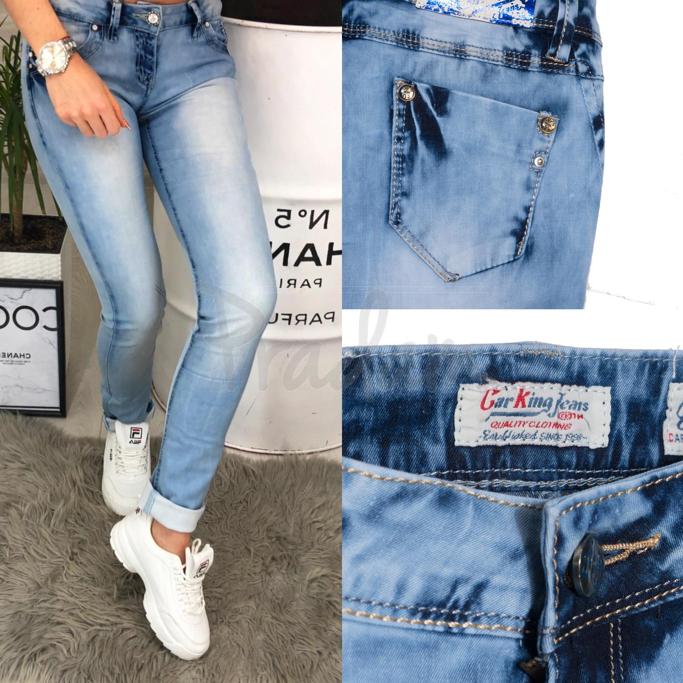 0036-03 Car King джинсы женские с варкой весенние стрейчевые (25-30, 6 ед.)