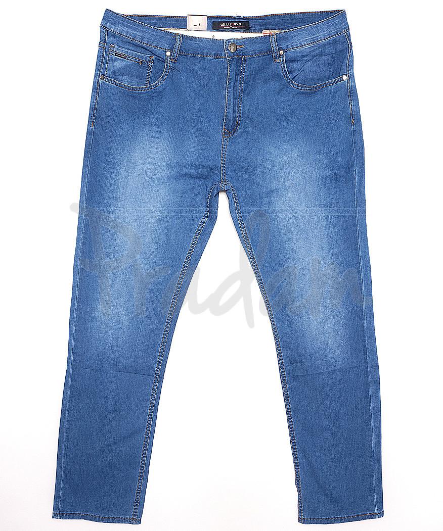 120163-D LS джинсы мужские батальные классические весенние стрейчевые (34-42, 8 ед.)