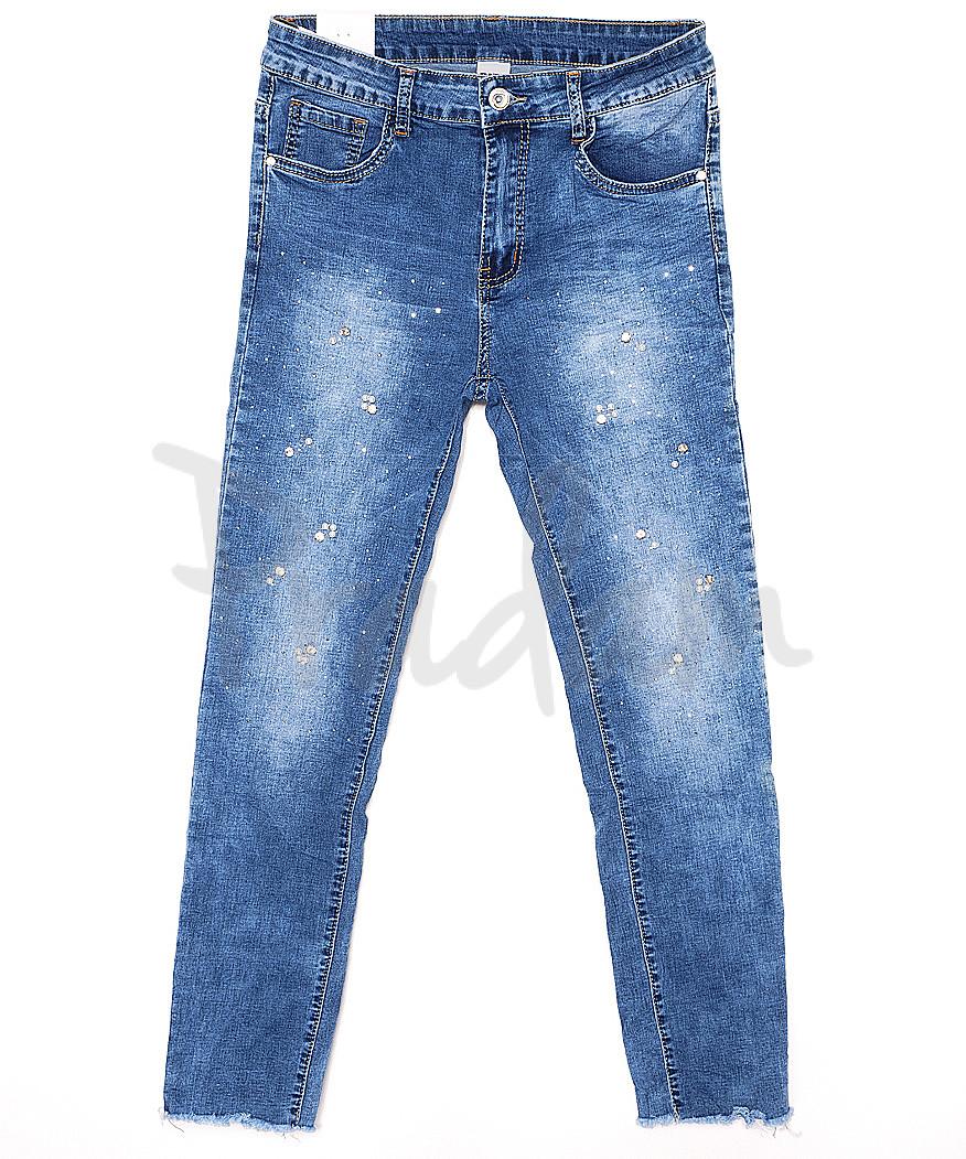 8075 Gallop джинсы женские батальные с декоративной отделкой весенние стрейчевые (30-36, 6 ед.)
