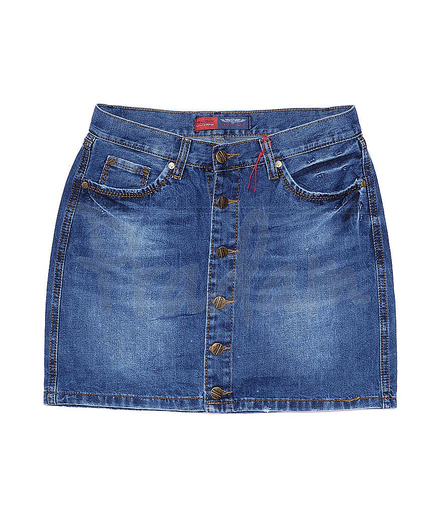A 0028-12 Relucky юбка джинсовая на пуговицах весенняя котоновая (25-30, 6 ед.)