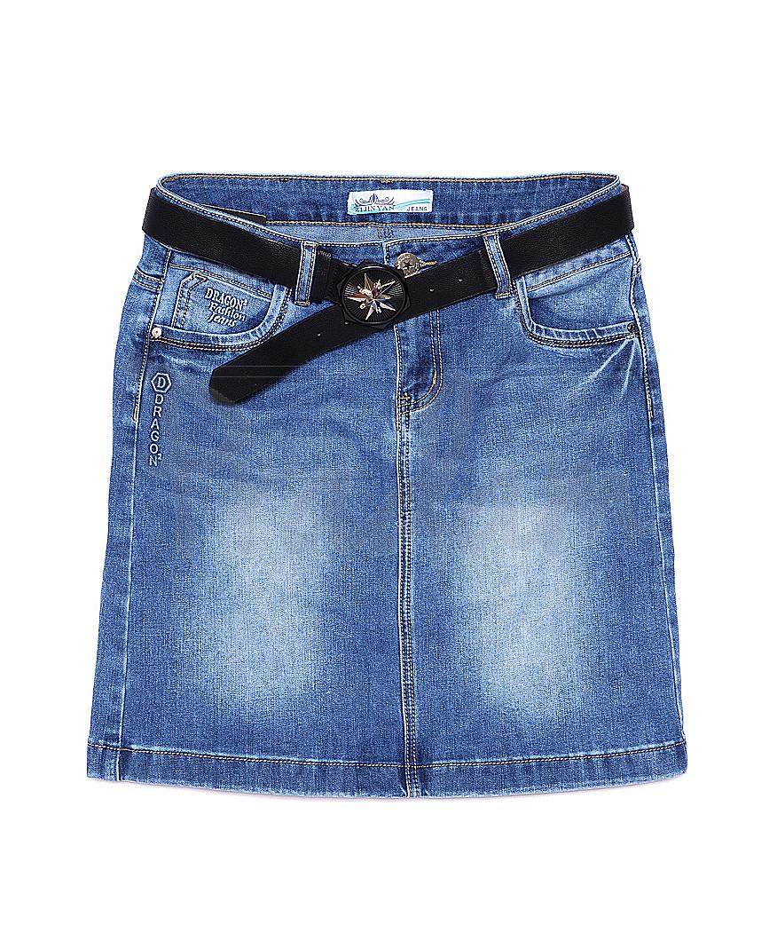 5002 Zijinyan юбка джинсовая батальная весенняя стрейч-котон (30-36, 6 ед.)