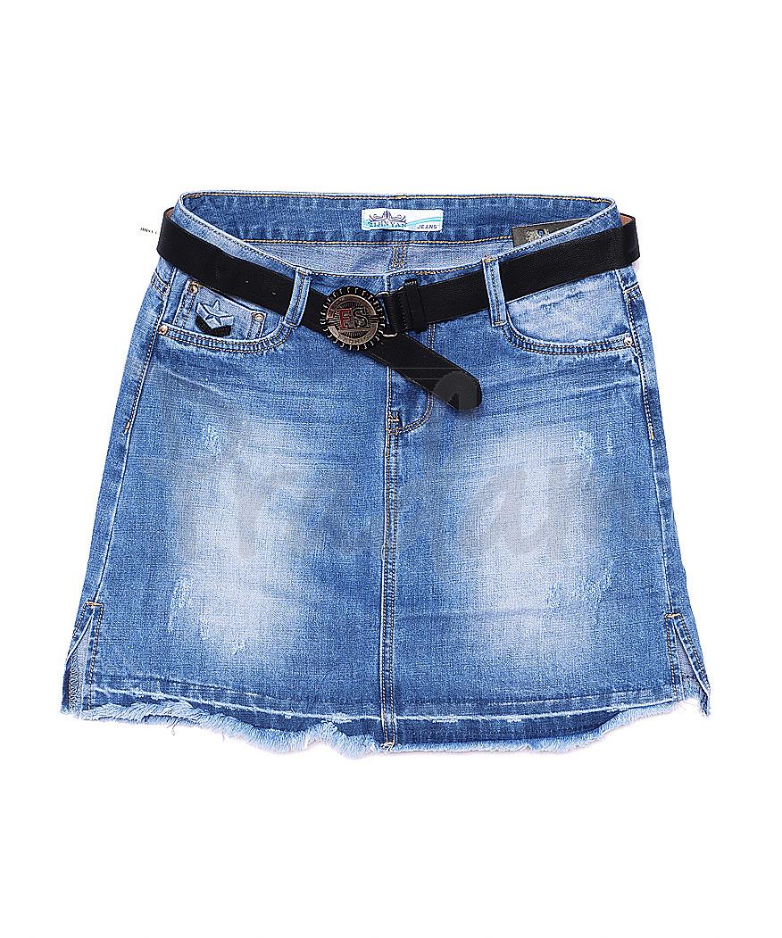 4515 Zijinyan юбка джинсовая батальная весенняя стрейч-котон (28-33, 6 ед.)