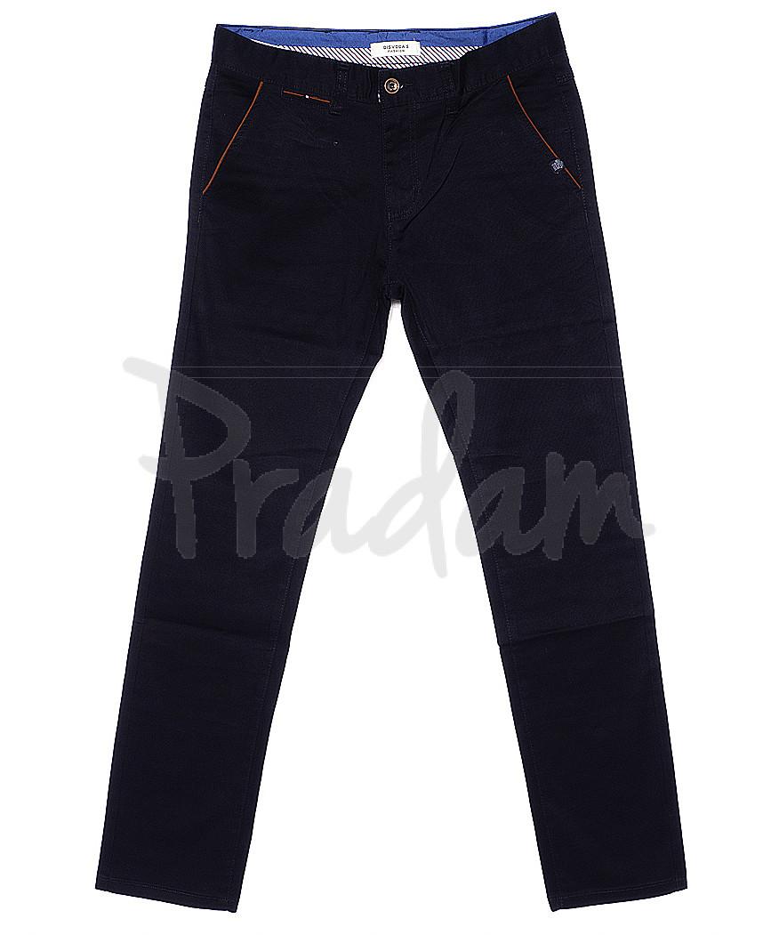 0672-5 Disvocas брюки мужские батальные темно-синие весенние стрейчевые (32-36, 8 ед.)
