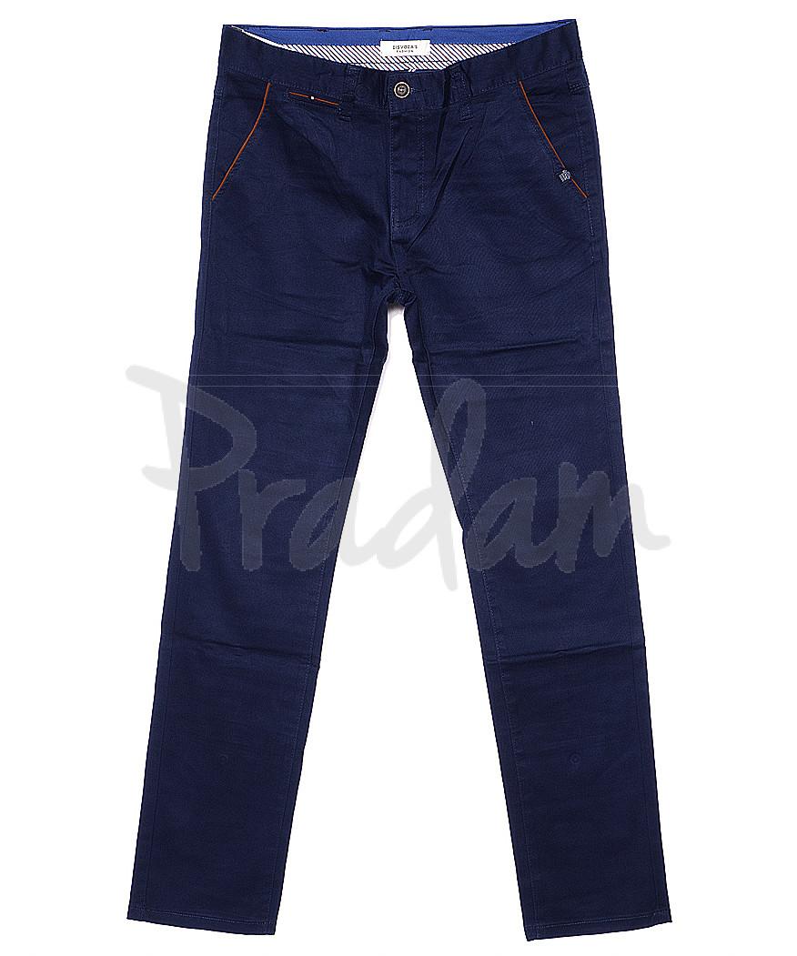 0672-1 Disvocas брюки мужские батальные синие весенние стрейчевые (32-36, 8 ед.)